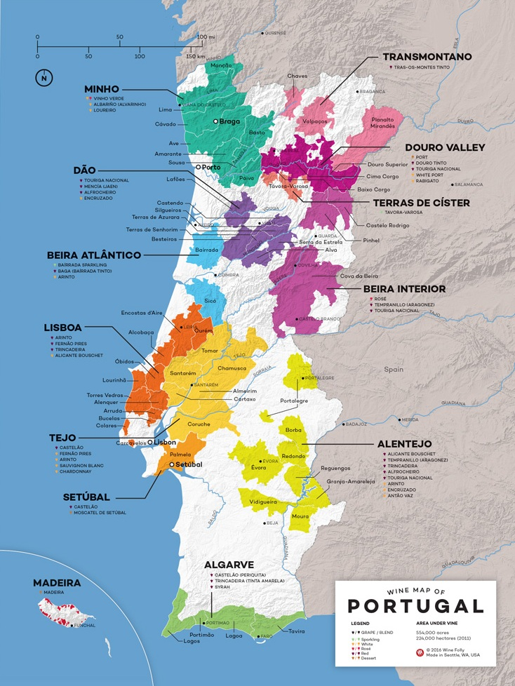 Portugal-wine-map